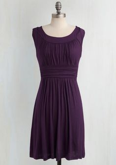 I Love Your Dress in Plum. You'll really feel the adoration while wearing this deep purple dress! #gold #prom #modcloth