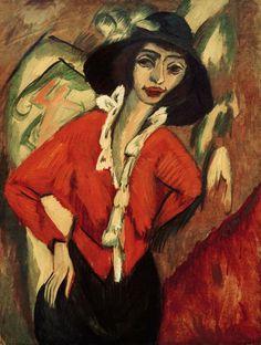 Bild:  Ernst Ludwig Kirchner - Frauenkopf