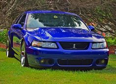 Ford Mustang Cobra in Sonic blue :) Sn95 Mustang, New Edge Mustang, Ford Mustang 1964, Ford Svt, Ford Mustang Shelby, Shelby Gt500, Car Ford, Hummer Truck, Ford Parts