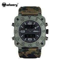 ПЕХОТА Мужская Часы 2016 Летний Стиль Цифровые Часы Кварцевые Relojes Военно…