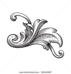Baroque scroll - Google 検索
