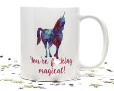 Unicorns are amazing! They are magical, sparkly and full of awesomeness. Give this to a special someone whose is just as epic and wonderful