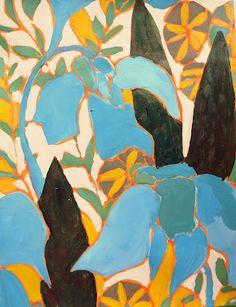 Acrylic on paper by LuLu Dekwiatkowski. Blog:Trail of Inspiration: Summertime Inspiration