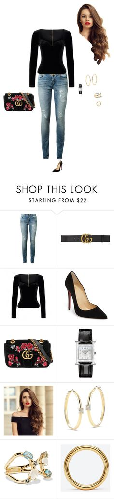 """""""Untitled #573"""" by youkhanan ❤ liked on Polyvore featuring Yves Saint Laurent, Gucci, Christian Louboutin, Hermès, Ivanka Trump and Ippolita"""