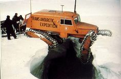 Tucker Sno Cat in Antarctica - extreme pucker factor