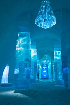Entryway 2009 of Ice Hotel in Sweden that melts by mid April every year. photo by wander luster.