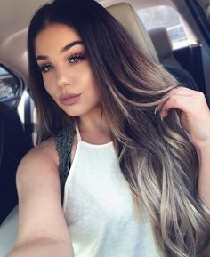 You will love gray gray hair! Cabelo Ombre Hair, Balayage Hair, Hair Highlights, Hair Dos, Gorgeous Hair, Dark Hair, Pretty Hairstyles, New Hair, Hair Inspiration