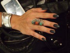 Dark almond shaped nails   Tumblr