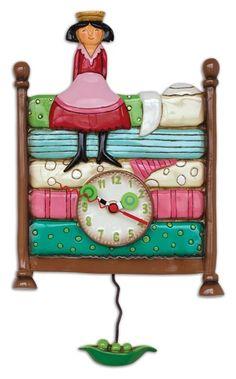 Princess Peapod Pendulum Wall Clock Allen Designs