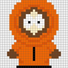 Four South Park Hama, Perler and Cross Stitch Designs. Beaded Cross Stitch, Crochet Cross, Cross Stitch Charts, Cross Stitch Designs, Cross Stitch Embroidery, Cross Stitch Patterns, Melty Bead Patterns, Perler Patterns, Beading Patterns