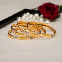 Plain Gold Bangles gms) - Fancy Jewellery for Women by Jewelegance Gold Chain Design, Gold Bangles Design, Gold Jewellery Design, Plain Gold Bangles, Gold Bangles For Women, Fancy Jewellery, Buy Jewellery Online, Bangle Bracelets With Charms, Bangle Set