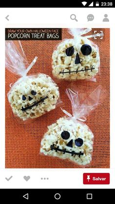 Quick Halloween crafts that anyone can make! Quick Halloween crafts that anyone can make! Quick Halloween crafts that anyone can make! Quick Halloween Crafts, Comida De Halloween Ideas, Dulceros Halloween, Halloween Popcorn, Halloween Sweets, Easy Halloween Decorations, Halloween Food For Party, Halloween Birthday, Holidays Halloween