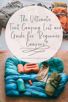 Camping list and camping equipment. Beginners guide to tent camping. Take all of your camping equipment on a plane! Camping list and camping equipment. Beginners guide to tent camping. Take all of your camping equipment on a plane! Zelt Camping, Camping Bedarf, Camping With Kids, Family Camping, Outdoor Camping, Camping Hacks, Camping Gadgets, Stealth Camping, Camping Stuff