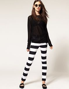 striped pants for grown-ups!