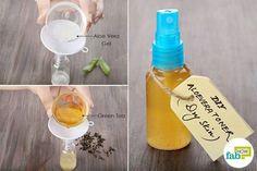 Mix brewed green tea with aloe vera gel to make DIY facial toner for dry skin Oily Skin Care, Skin Care Regimen, Anti Aging Skin Care, Skin Care Tips, Dry Skin, Green Tea Toner, How To Get Rid Of Pimples, Facial Toner, Skin Toner