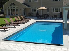 Blue Hawaiian Fiberglass Pools and Spas   Rectangle Designs