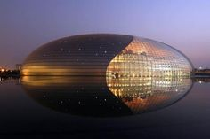 Bei­jing Opera House National Centre for the Performing Arts, or 国家大剧院