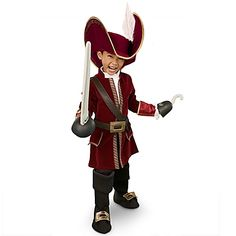 Disney Store Captain Hook Pirate Costume Set Size Large L for Boys age 8 - 9 New Halloween Costumes, Pirate Halloween, Boy Costumes, Disney Halloween, Halloween Ideas, Green Costumes, Halloween 2016, Family Halloween, Pirate Party