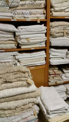 At my candy shop ♡♡♡  Antique linens
