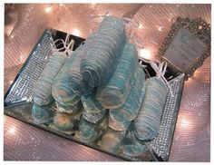 Tiffany colored chocolate Twinkies!  Heaven!!!