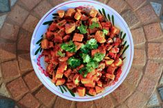 Roasted Sweet Potato Salad With Black Beans and Cilantro Chili Dressing