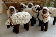 Cute crochet sheep!.