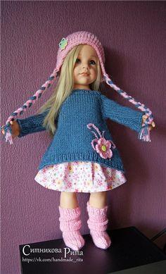 Одежда для кукол Gotz, Journey girls и других подобных куколок, собственного изготовления. Ручная авторская работа. №1 в комплекте шапочка, туника, / 500р