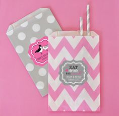 Personalized Theme Goodie Bags (set of 12), Candy Bar, Candy Wedding Favor Bags