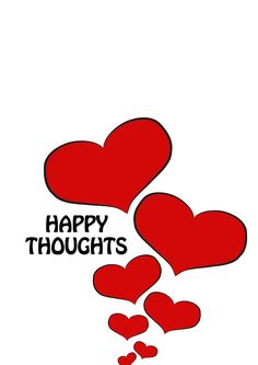 """""""Happy thoughts"""" #card #drawing #art #design in #redbubble. Available in many #products"""