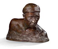 Attribué à Gaston HAUCHECORNE Buste d'asiatique Epreuve en bronze à patine brune Cachets du fondeur Susse Numéroté 10/10 H: 30 - L: 35 cm Estimation: 1800/2200 € (vendu: 2550 €/juin 2016)