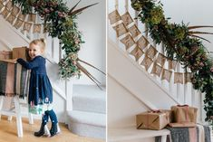 How To Make a festive Christmas stair or table garland with Joules