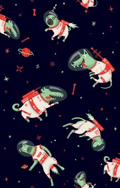 space themed illustration - Buscar con Google