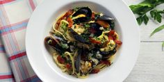 Linguine with Bacon, Beer and PEI Mussels
