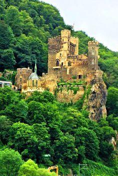 Medieval Rheinstein Castle near Assmanshausen, Germany