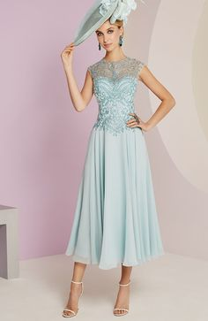 Veni Infantino 991450 Mother of the Bride Outfit - Colour Opal Blue - Price Buy online today with next day delivery - money-back guarantee. Mother Of The Bride Fashion, Mother Of Bride Outfits, Mother Of Groom Dresses, Mothers Dresses, Wedding Hats, Wedding Dresses, Wedding Outfits, Floaty Dress, Mom Dress