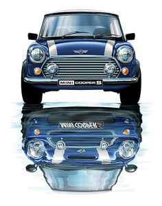 Mini Cooper S, I would absolutely love to own this car! much fun to drive! My Dream Car, Dream Cars, Mini Cooper Clasico, Classic Mini, Classic Cars, Mini Morris, Automobile, Mini Copper, Car Illustration