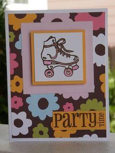 Roller Skate Party invitation (option 1)