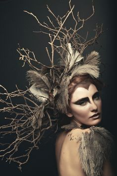 wildling | ph. Natasha Raichel , model Jade Smith. Owl, via darkbeautymag.
