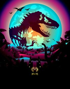 Jurassic World Attack Poster 24 x Jurassic World Poster, Jurassic Park World, Jurassic World Wallpaper, Jurassic Park Tattoo, Jurrassic Park, Japon Illustration, Dinosaur Art, Dinosaur Posters, Dinosaur Crafts
