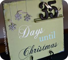 Days until Christmas decoration