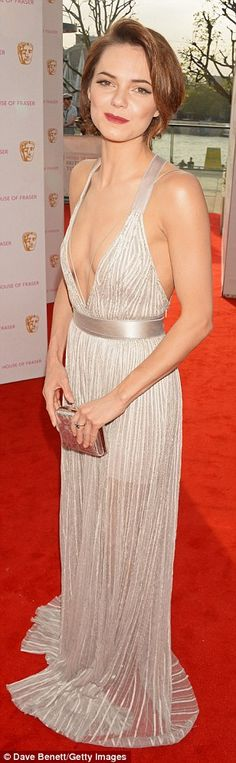 Kara Tointon looked simply stunning in a plunging gown that was rendered in a stunning semi-sheer fabric