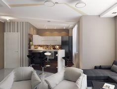 Egyszerűség és hatékony helykihasználás, minimál stílus - egy fiatal férfi 40m2-es új lakása - Lakberendezés trendMagazin
