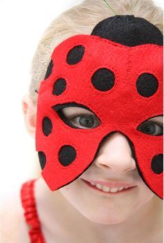 Ladybird, ladybird, fly away home. You can make your own super cute Little Ladybug mask with a few pieces of felt and some hat elastic. Soft felt on