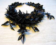 coll. Flores Noctis - 100% leather, 100% handmade in Italy - Adriana Delfino
