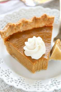 An easy recipe for Homemade Pumpkin Pie. This pumpkin pie recipe is perfect for the holidays!