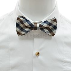 Checker bow tie