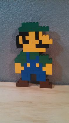 LEGO Super Mario Brothers pixel Art 3d / 2d Luigi by JediReSale, $15.00