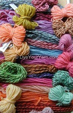 An entire site dedicated to dyeing your own yarn, silk, roving, etc. with Kool-Aid and other food dyes.
