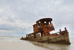 In the late 1990s, a tugboat got separated from its ship, and its ruins remain partially submerged beneath the sands of Rainbow Beach on the southeast end of Little St. Simons Island.
