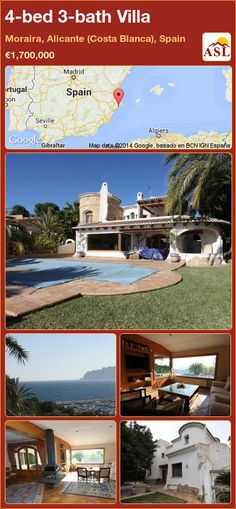 4-bed 3-bath Villa in Moraira, Alicante (Costa Blanca), Spain ►€1,700,000 #PropertyForSaleInSpain